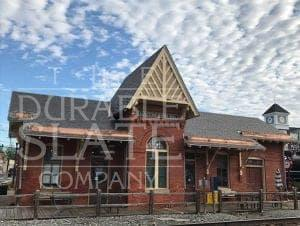 gaithersburg maryland b&o railroad with newly repaired slate roof and copper gutters