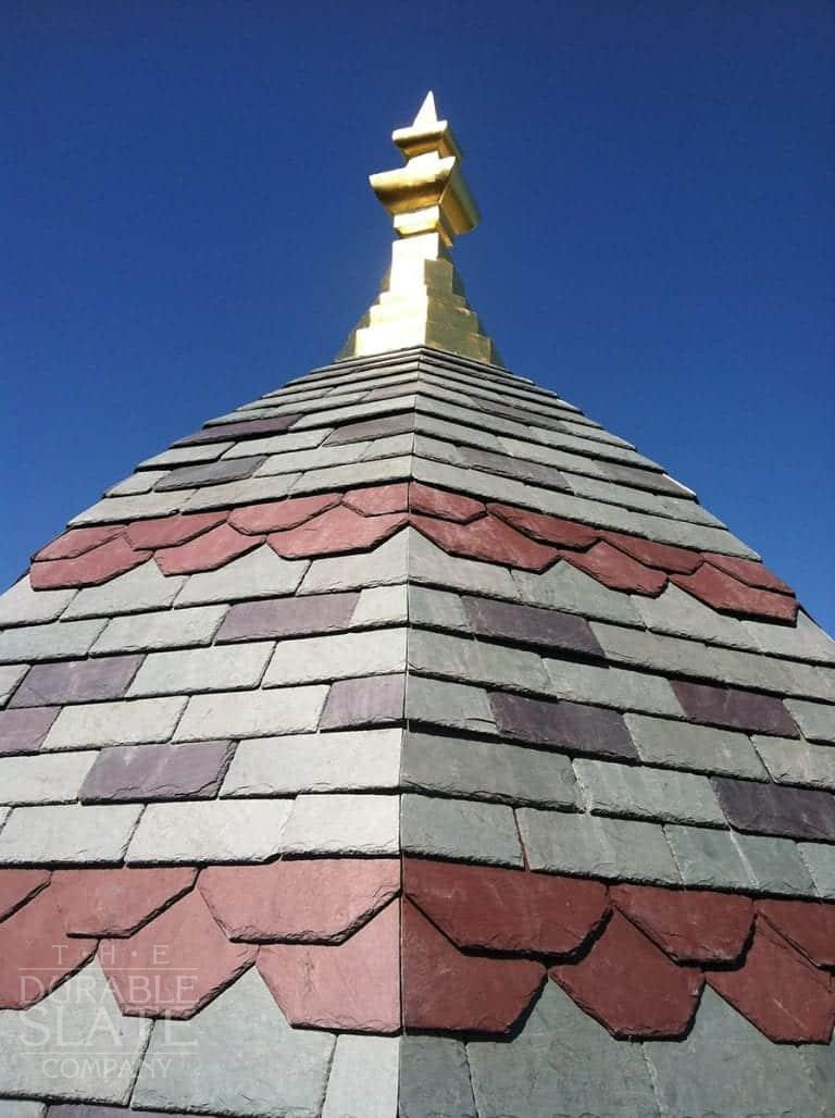 Muir is a Vermont Unfading Green, Purple and Red pattern roof in rural Ohio.