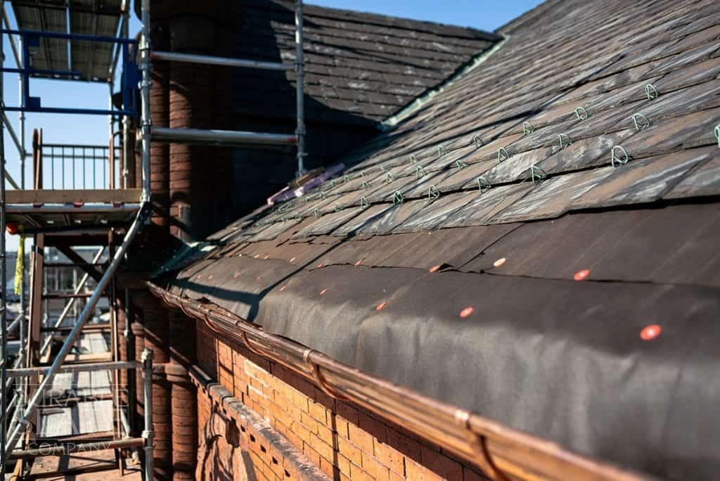 azola boys slate roof and copper gutter