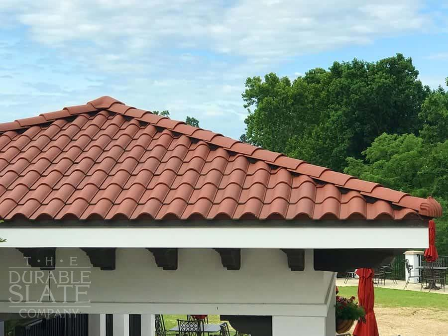 spanish red clay roofing tiles